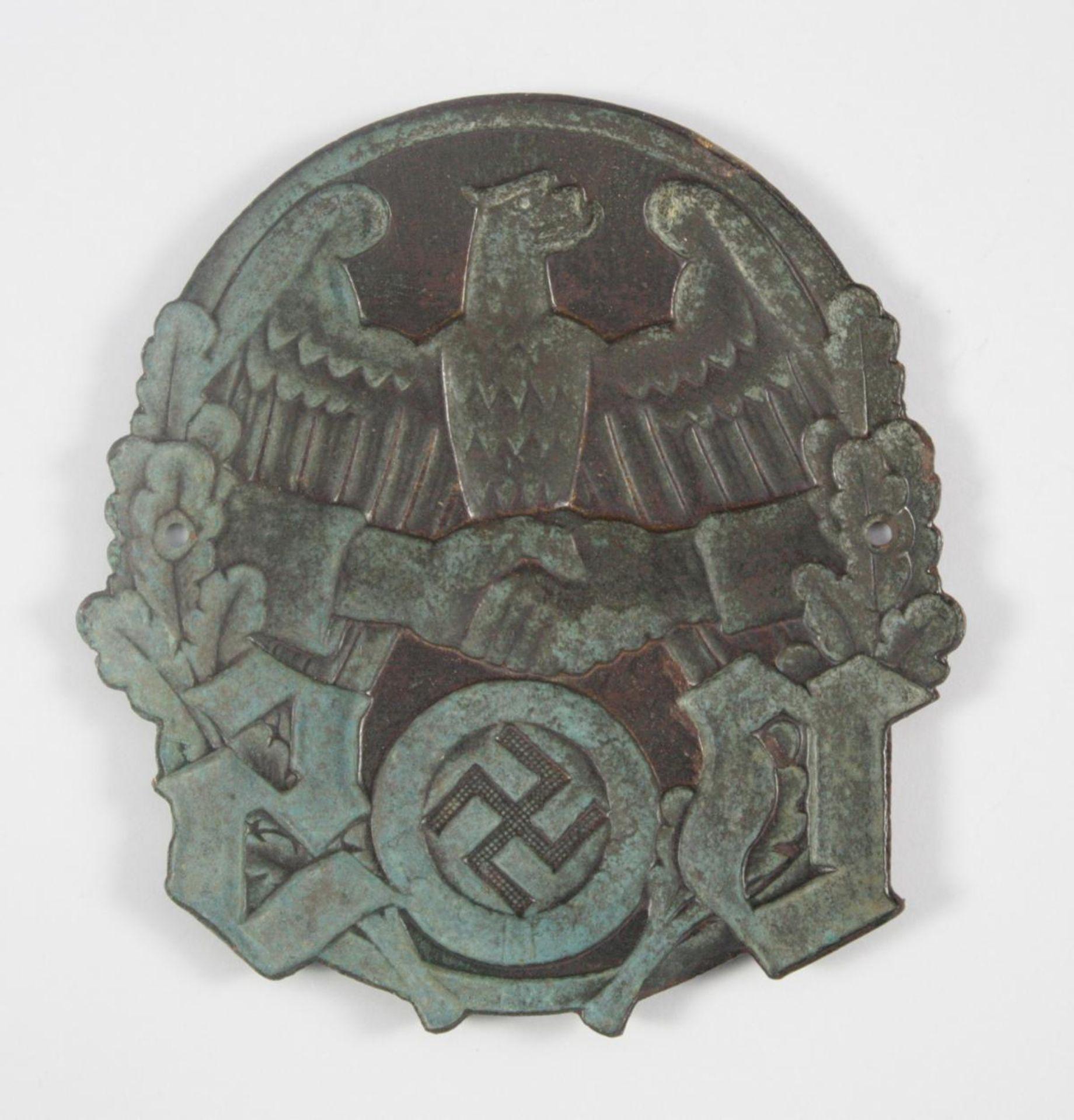 WHW Türplakette: Volkssozialistische Selbsthilfe, Gau 40: Westmark - Bild 2 aus 2