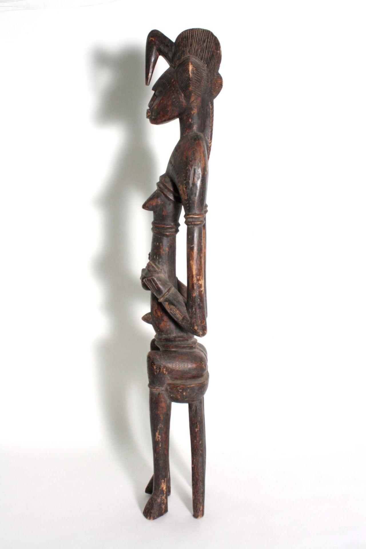 Maternité. Mutter-Kind-Figur, Senufo Elfenbeinküste, 1. Hälfte des 20. Jahrhunderts - Bild 6 aus 6
