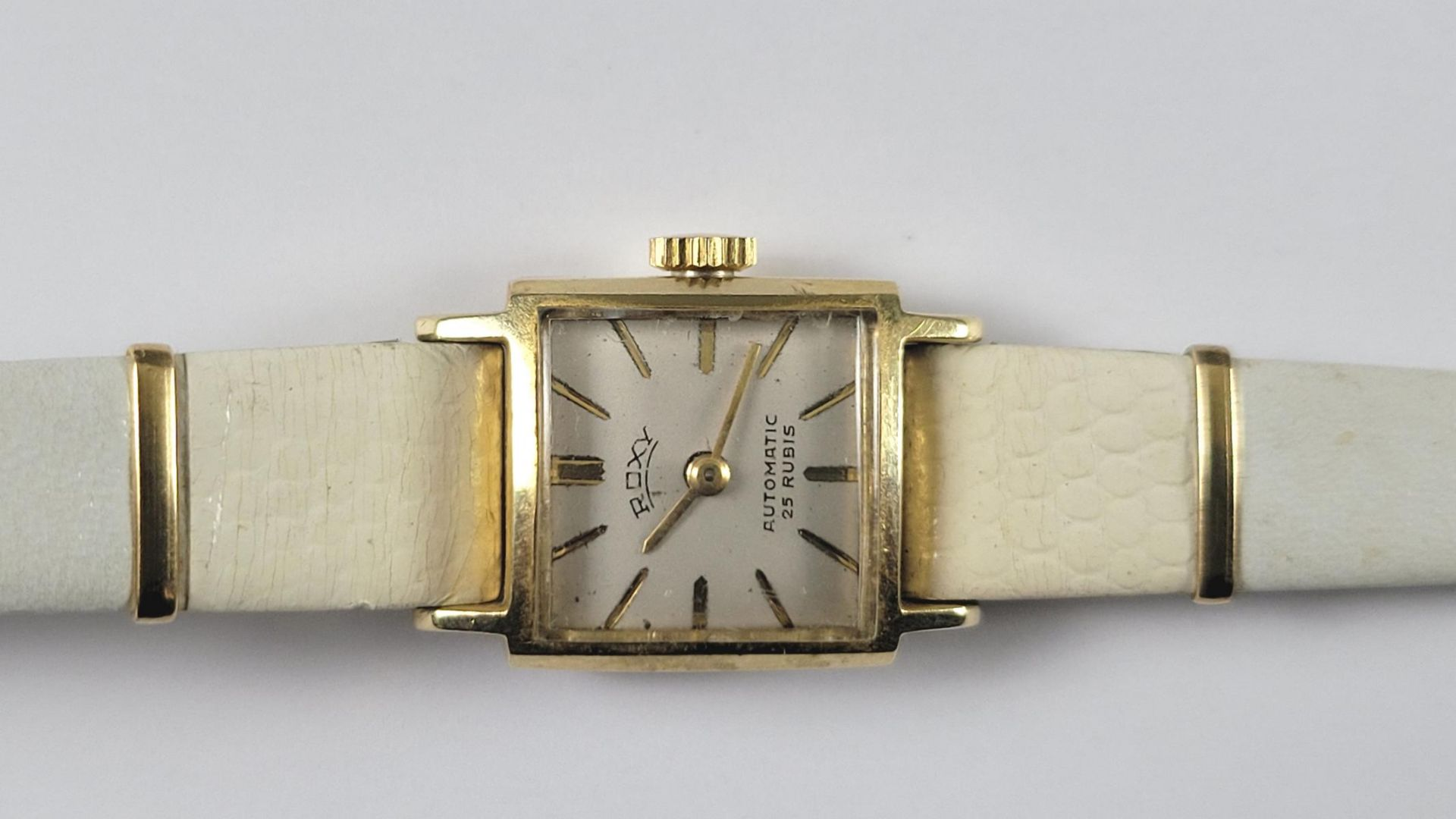 Goldene Roxy Damenarmbanduhr, 14 Karat Gelbgold - Bild 2 aus 4