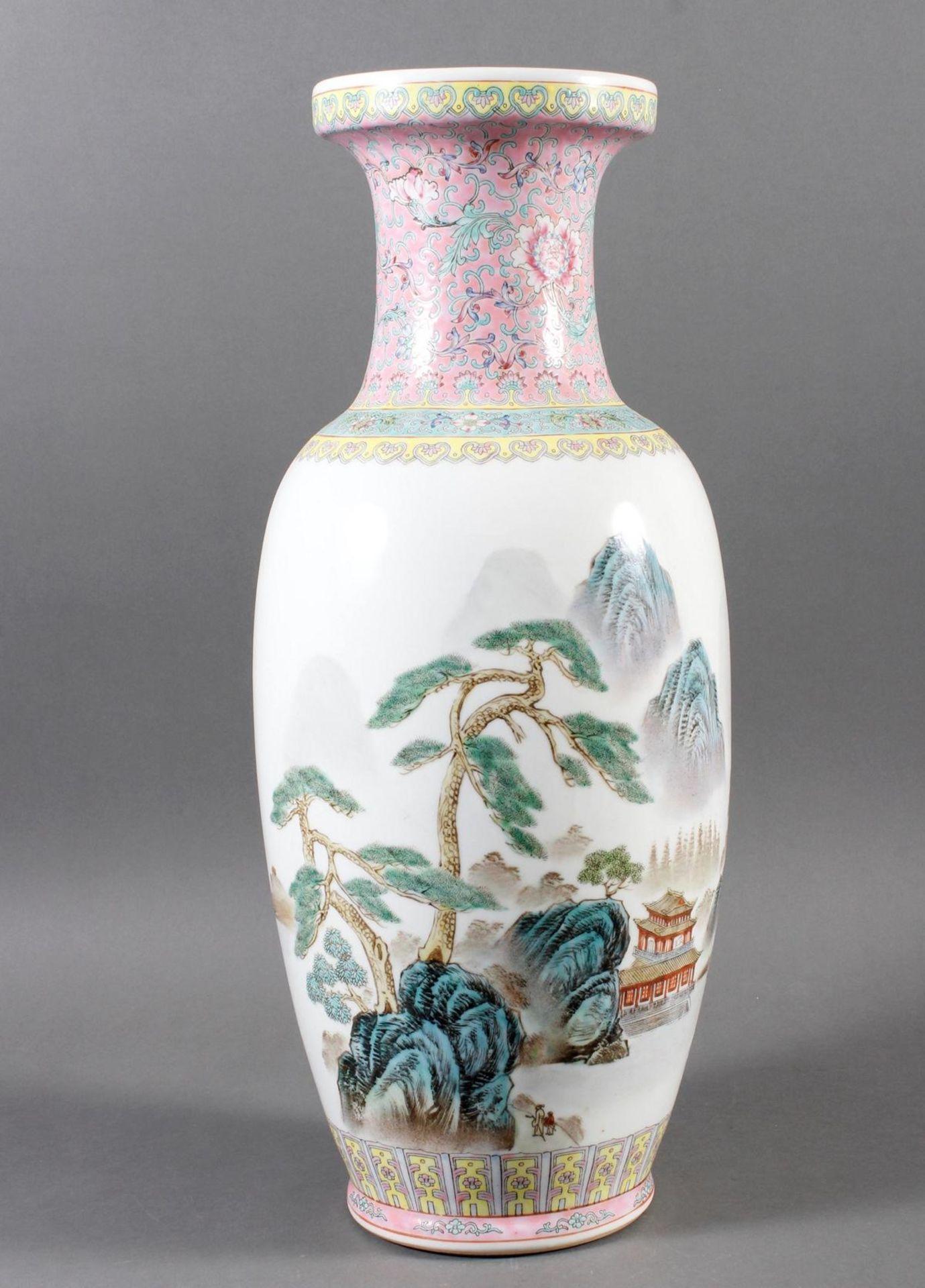 Porzellan Bodenvase, China 20. Jahrhundert