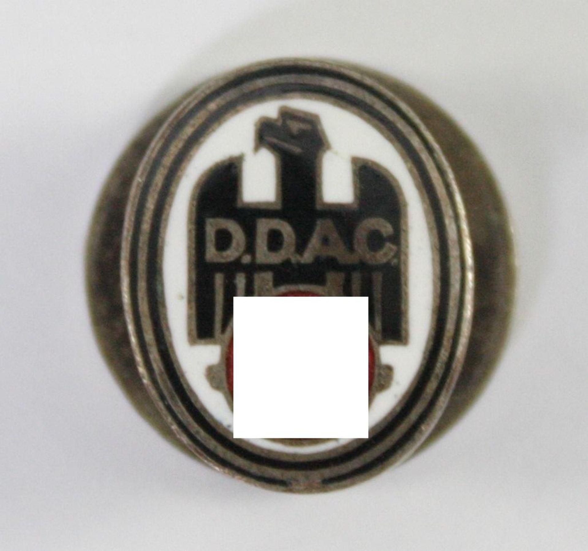 Mitgliedsabzeichen DDAC; Der Deutsche Automobil-Club - Knopflochausführung