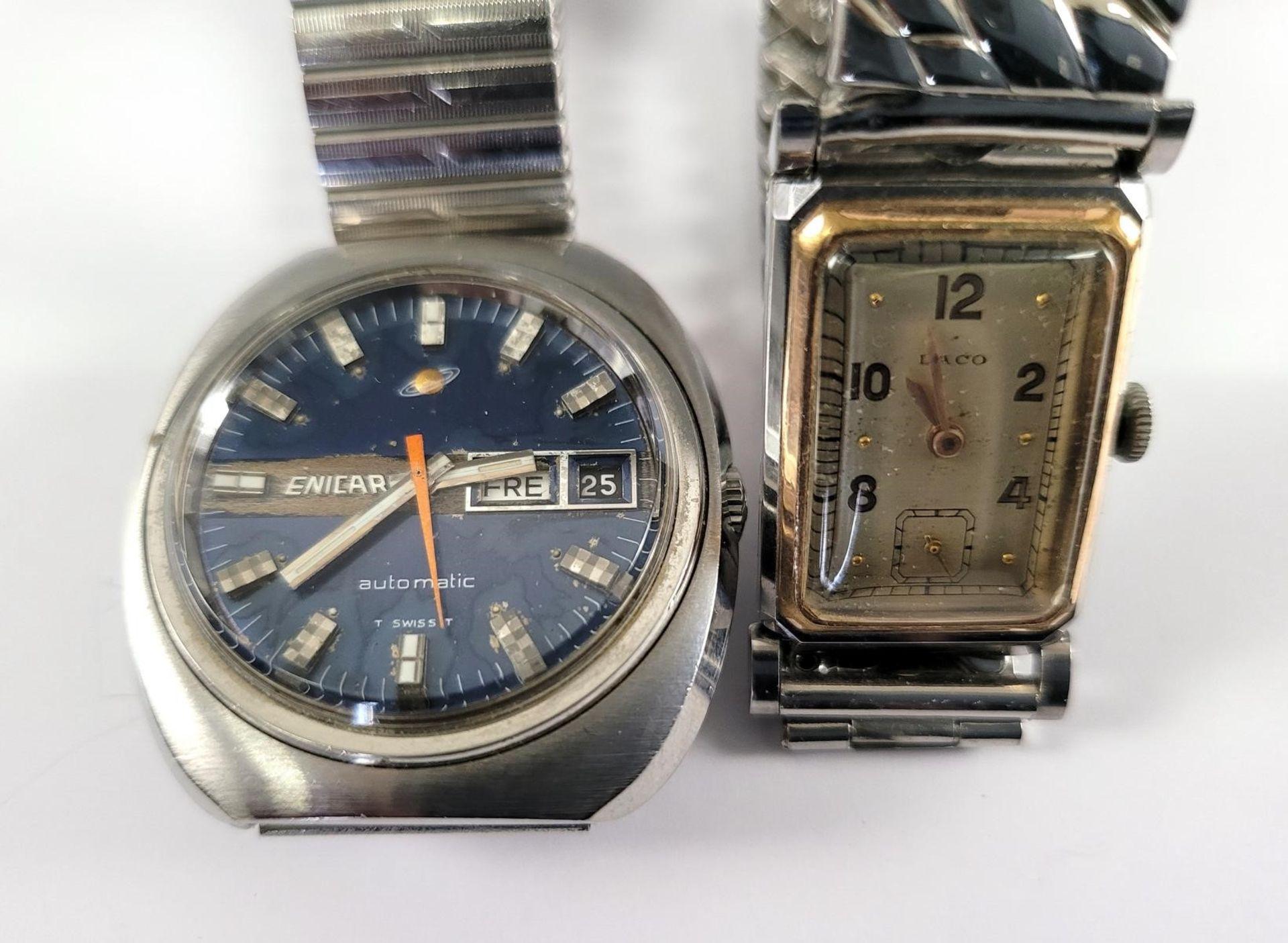 ENICAR Automatic Herrenarmbanduhr und LACO Damenarmbanduhr