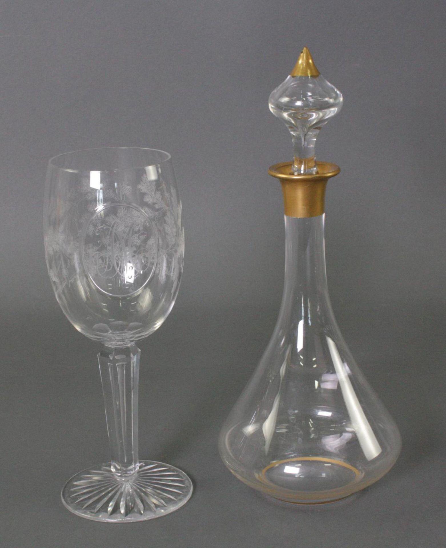 Glas Karaffe und Pokal - Bild 2 aus 6