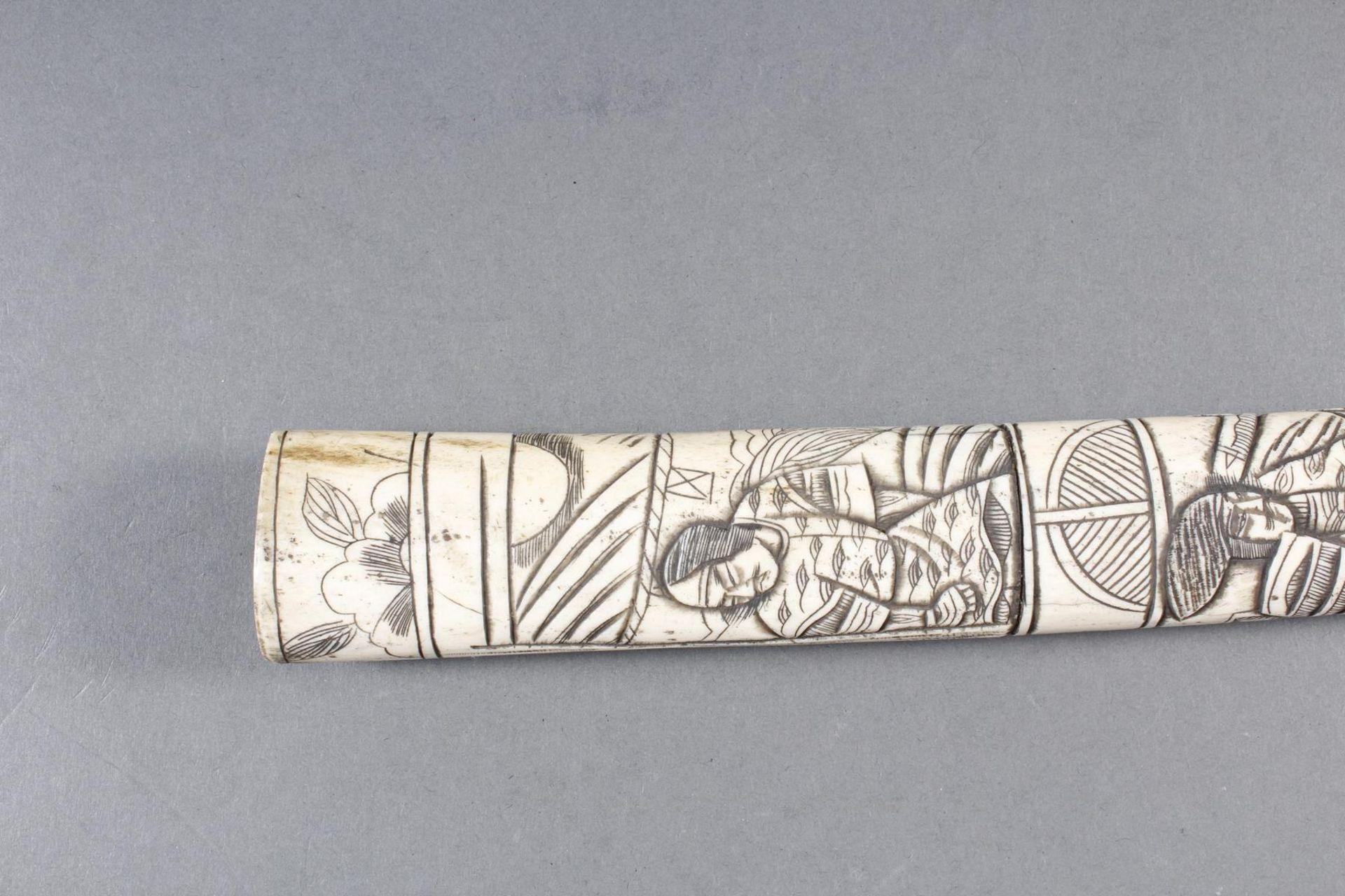 Kurzschwert aus Hirschhorn, Japan Meiji Periode - Bild 12 aus 12