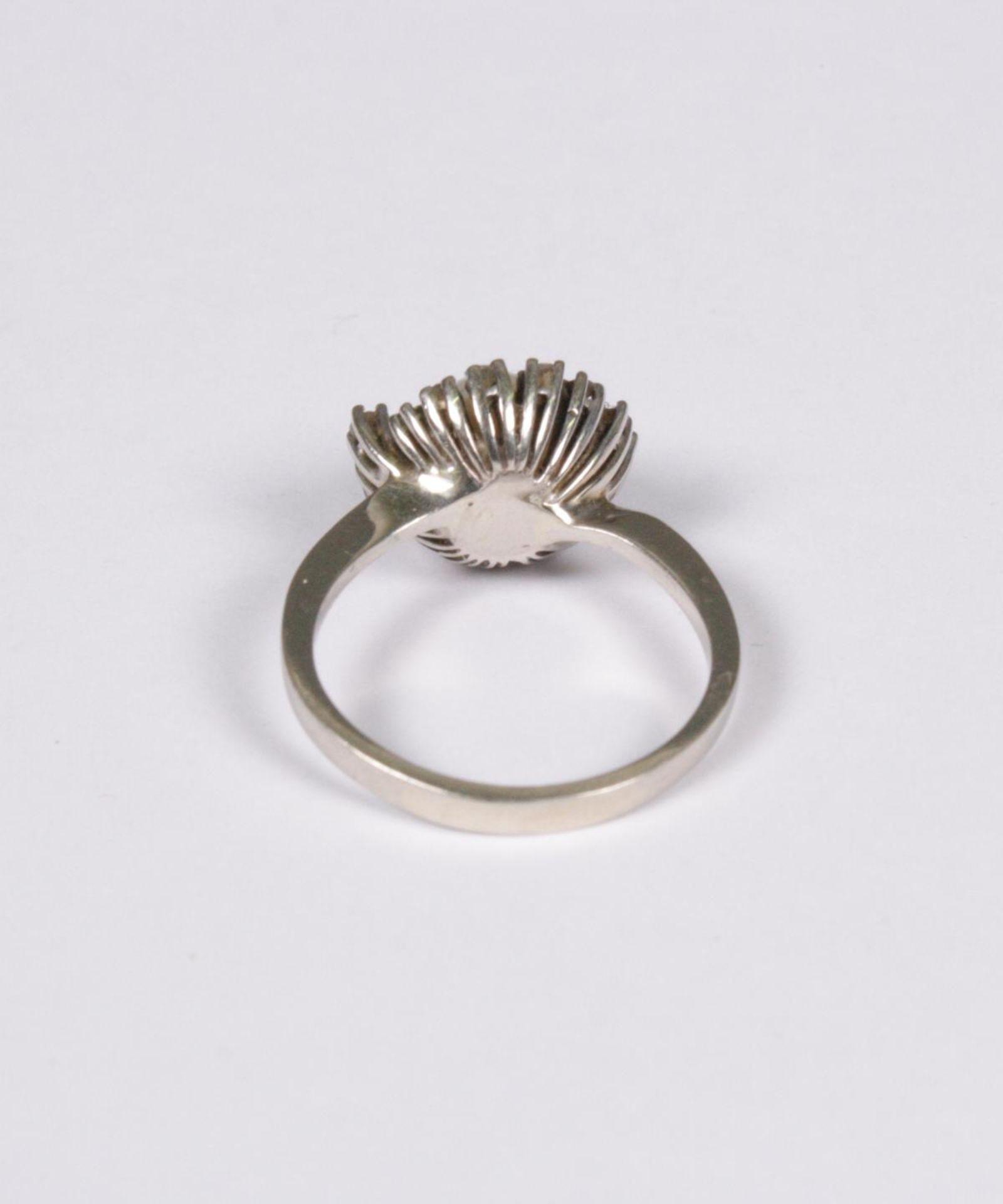 Damenring mit Diamanten und Perle, 14 Karat Weißgold - Image 3 of 3