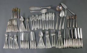 Großes Konvolut Silberbesteck 800er Silber, Modell Perl