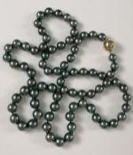 Halskette aus Tahitiperlen mit 14 Karat Gelbgold-Magnetverschluss