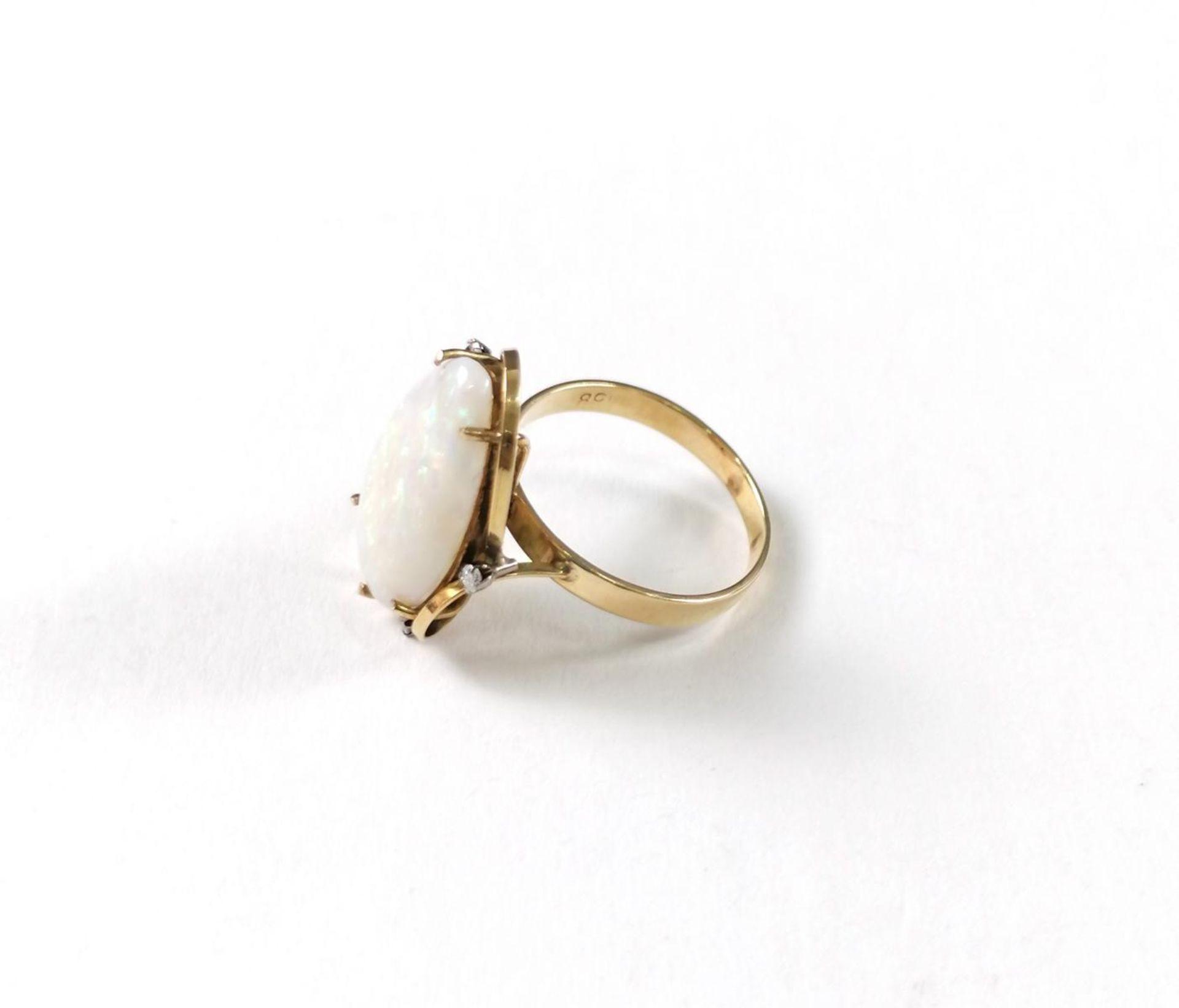 Gelbgold-Opalring mit Diamanten - Image 5 of 5