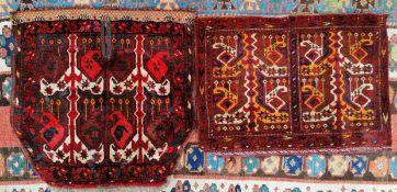 Torba und Satteldecke, Turkmenisch um 1900