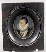 Miniaturportrait, Alicia Brandon Nicolai Hillyardi
