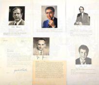 20 UNTERSCHRIFTEN POLITIKER BUNDESREPUBLIK DEUTSCHLAND