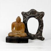 Bilderrahmen China Qing-Dynastie und Buddha