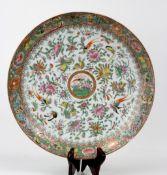 China Großer Millefleurs Porzellan Schauteller