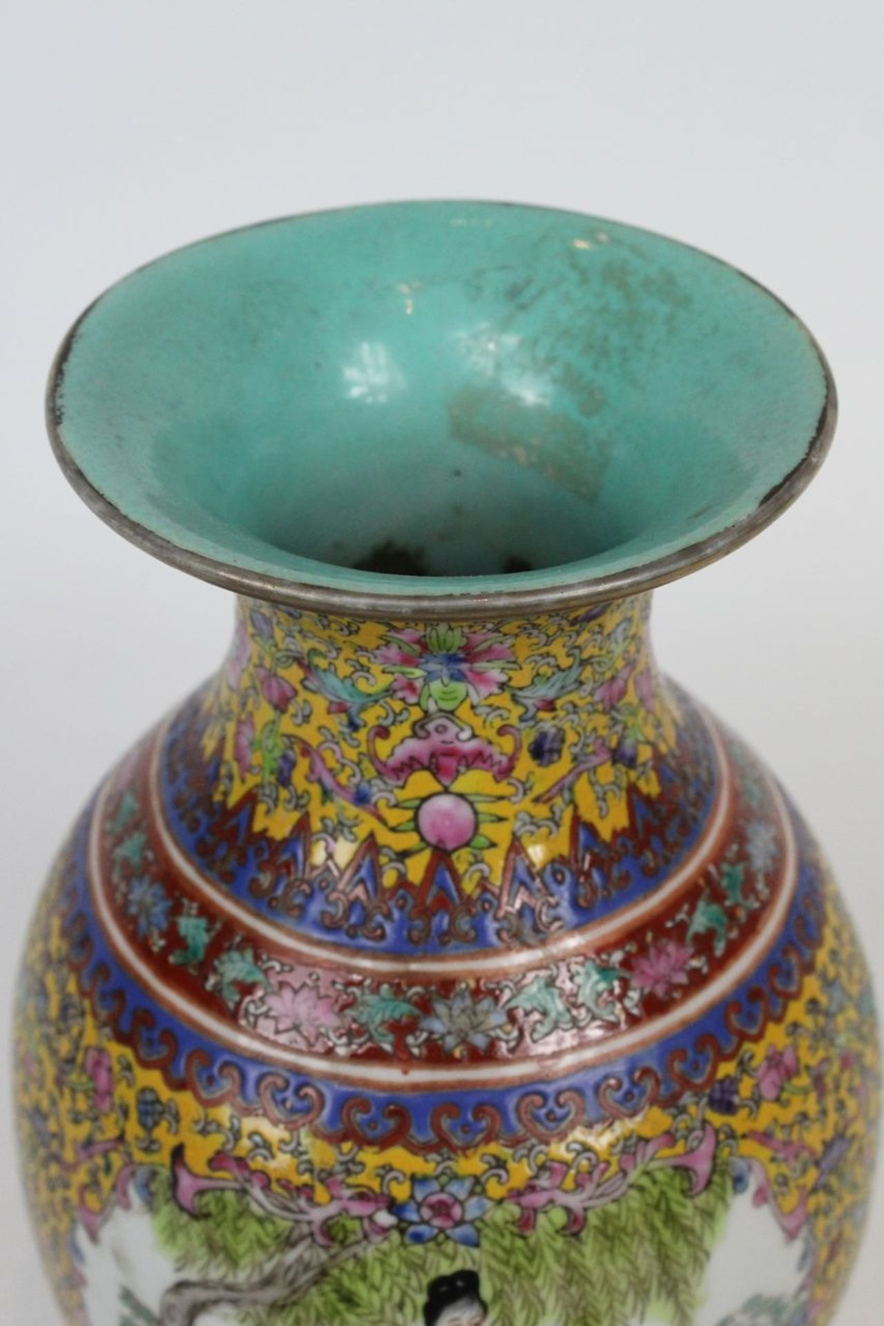 China Famille Jaune Millefleures Vase - Image 14 of 14