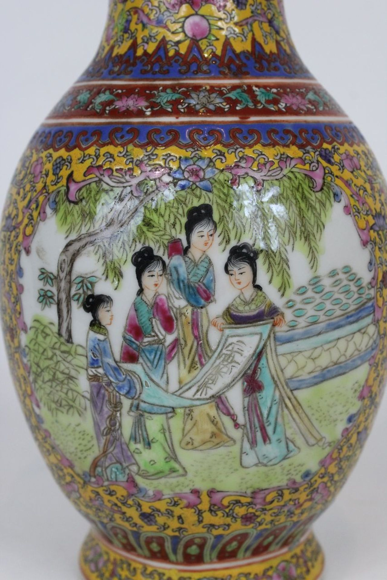 China Famille Jaune Millefleures Vase - Image 13 of 14