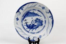 """China Blau- Weiss Teller """" Landschaftsmotiv """""""