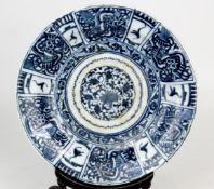 Chinesischer Blau-Weiß Teller Ming Dynastie