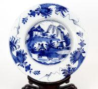 """China Blau-Weiss Teller """" Landschaftsmotiv """""""