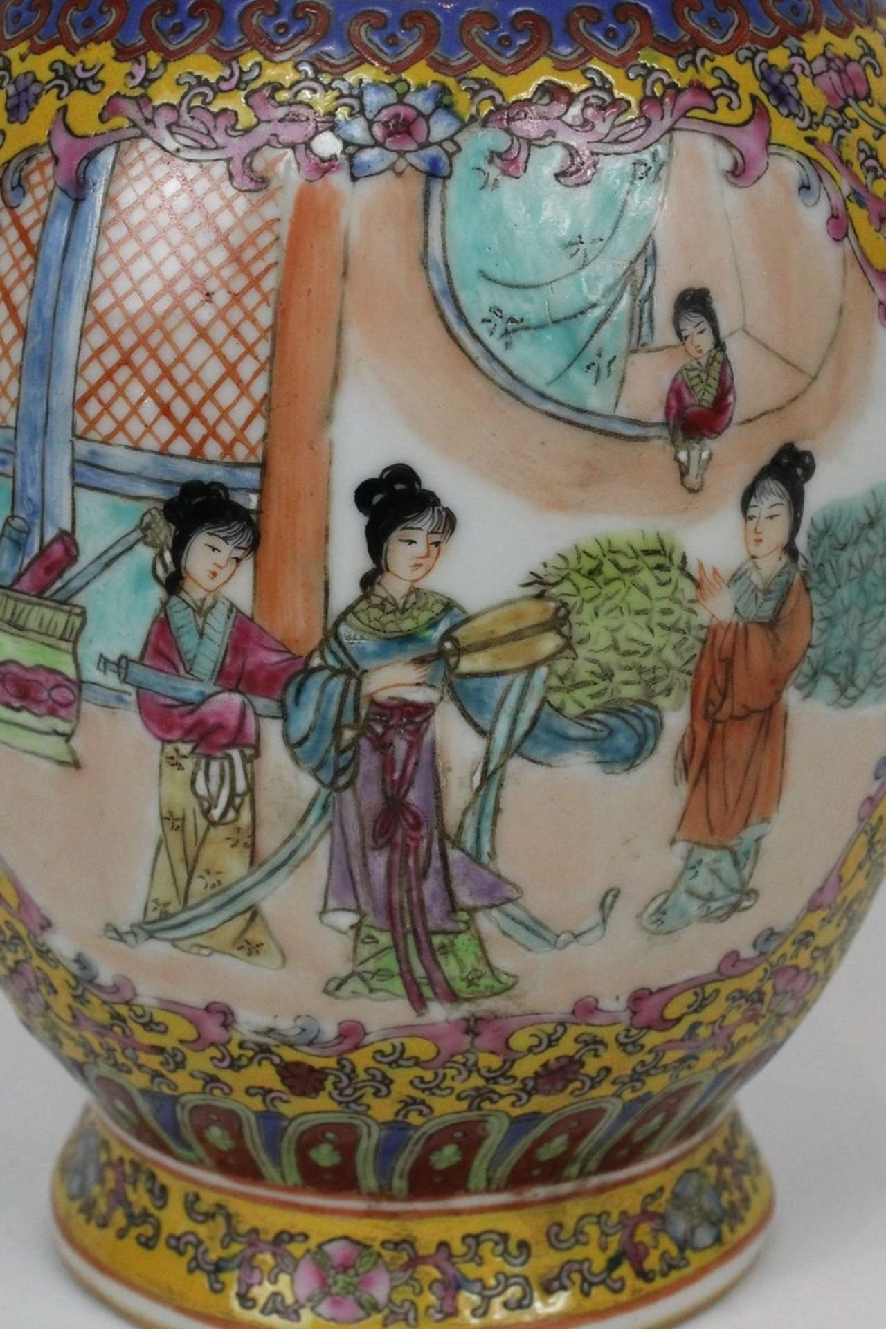 China Famille Jaune Millefleures Vase - Image 2 of 14