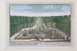 """Carl Remshard ( 1678 - 1735 ) """" Kaskaden von Schloss Nymphenburg/ München """""""