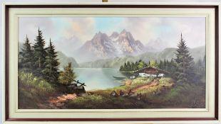 """Sgn. Bögle """" Alpine Landschadft am See """""""