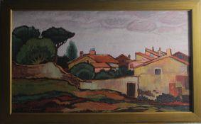 """Leo Bothas """" Häuser in der Landschaft """""""