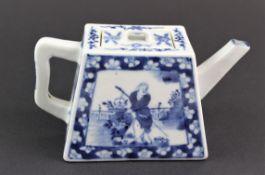 China späte Qing Dynastie Porzellan Teekanne mit BW Malerei