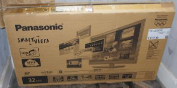 A Panasonic 32in LCD television, boxed