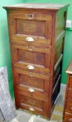 *Amended dimensions* An early 20th century pitch pine four drawer filing cabinet, 132cm h, 53w, 55d,