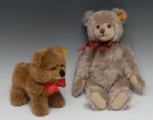 Steiff (Germany) 010859 pale brown mohair jointed teddy bear with growler, brown and black plastic