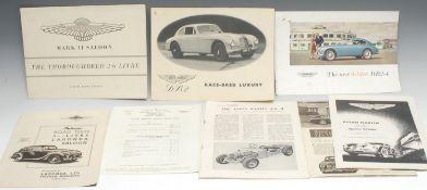 Automobilia, Aston Martin - an Aston Martin DB2 'Race-Bred Luxury' monotone six page fold-out
