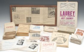 Puppetry - promotional paper ephemera relating to Joy Laurey and The Laurey Puppet Company,