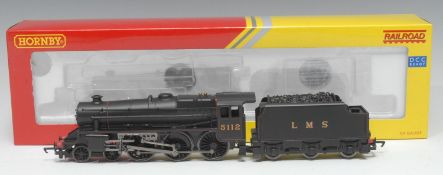 Hornby OO Gauge R2881 LMS Class 5 4-6-0 locomotive and six wheel tender (DCC ready), black livery,