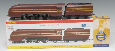 Hornby OO Gauge R2689 LMS 4-6-2 'Duchess of Hamilton' 4-6-2 Coronation Class locomotive and six