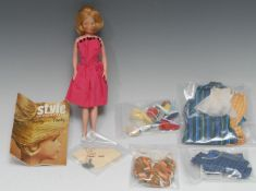 Palitoy Tressy's little sister Toots doll, blonde hair, painted side glancing blue eyes, wearing a