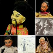 The Late Ron Wells collection (Lots 2001-2013), a much loved family collection of puppets,