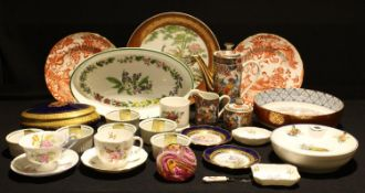 Ceramics- Royal Crown Derby, Shelley, Limoges, Lourioux, Royal Worcester, Whitefriars etc