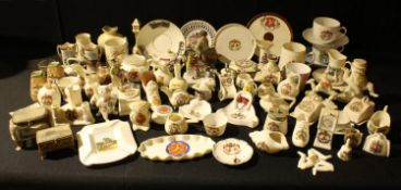 Isle of Man, Manx Interest - crested ware miniatures including a J.R. & Co Victoria China model of a