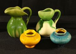 Art Pottery - an Aller Vale jug, impressed c.1900; another; two miniature vases, possibly