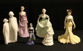 A Coalport figure, Ladies of Fashion, Wendy; others, Henrietta, Veronica; a Royal Doulton model,