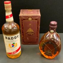 Alcohol - Dimple, 12years old, fine old original de luxe scotch whisky, 40%vol, 75cl, boxed; another