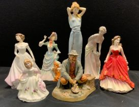 A Royal Doulton figure Loyal Friend, Hn3358; others Special Occasion; Bon Appetit, Sweet Purfume