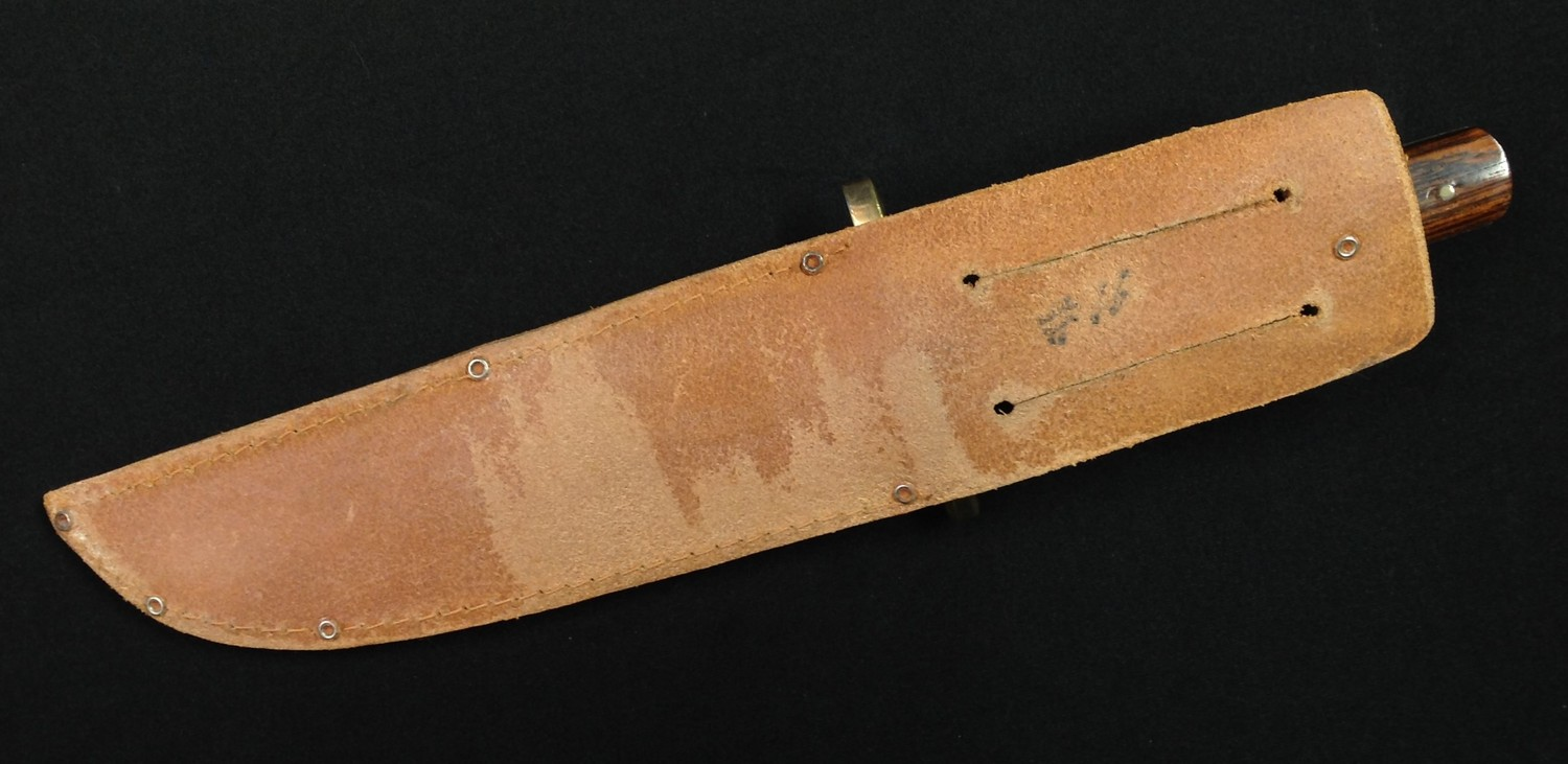"""Two knives by Nowill of Sheffield: Bowie Knife with 145mm long blade with etched makers mark """"J. - Image 3 of 13"""