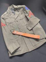 "WW2 USMC Service Dress tunic, Cpl 1st Marine Division, tunic named in armpit to ""Concannon, TL"","