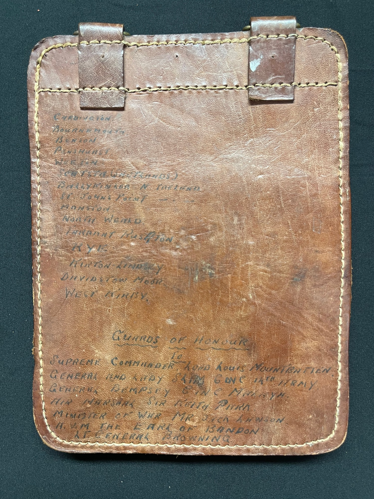 WW2 Japanese Map Case (No Star insignia) covered with written dedications by a member of the Far - Image 2 of 3