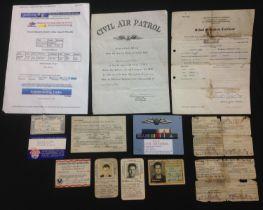 WW2 / 1950's US Civil Air Patrol Group to William Walker Shea 1914-1984, comprising of: Pilots