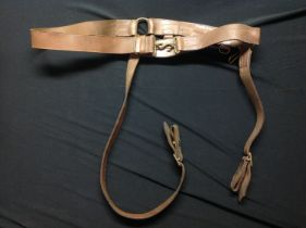 WW1 British Cavalry Officers Snake Belt. Complete with buckle and both straps. No makers mark or