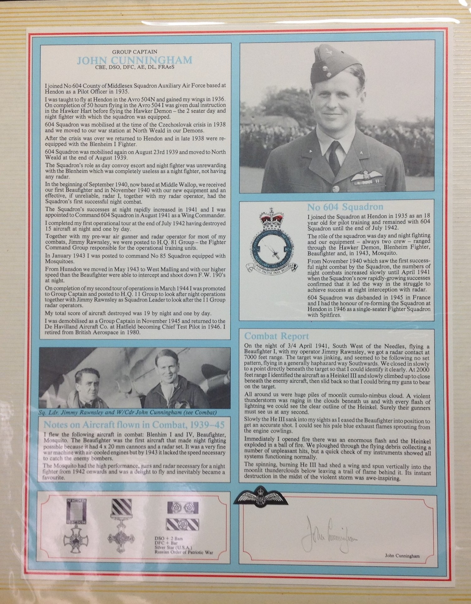 Royal Air Force Fighter Pilot and Bomber Pilot Profile Collection. A limited edition of only 2000 - Image 7 of 10