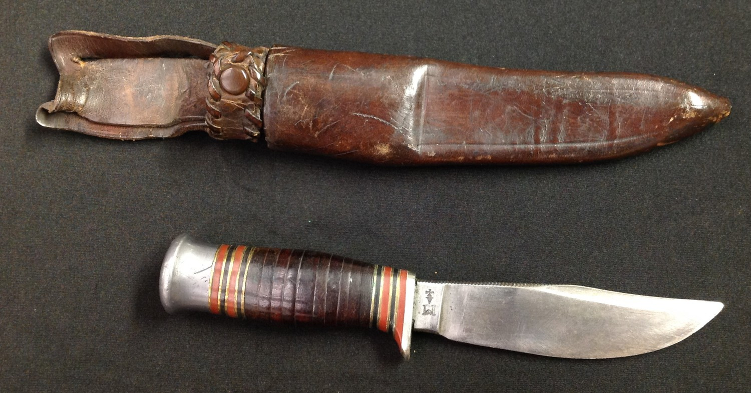Survival / Hunting / Scouting Knife with 99mm long Bowie style blade with etched retailers name to - Image 3 of 8
