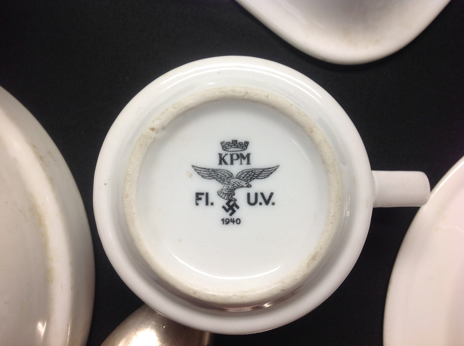 WW2 Third Reich Luftwaffe, Kreigsmarine and DAF dinnerware, eight items, plus two items of - Image 8 of 10